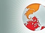 India and China globe